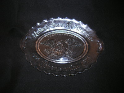 Avon Collectible Glass Bread Plate