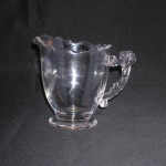 Central Glass Works Deco Fan Creamer