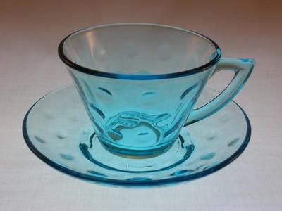 Hazel Ware Capri Dots Cup and Saucer