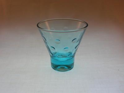 Hazel Atlas Capri Dots Whiskey Glass