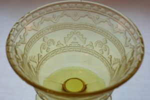 Patrician Depression Glass Amber Sherbet