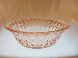 Jeannette Windsor Diamond Pink Berry Bowl