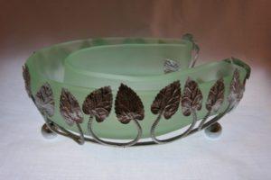 Bagley Art Deco Horseshoe Bloom Trough
