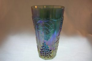 Indiana Harvest Blue Carnival Glass Tumbler