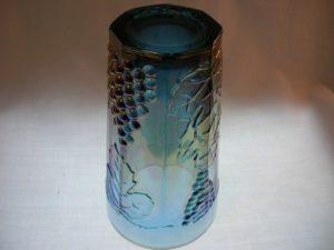 Indiana Harvest Blue Carnival Glass Tumbler