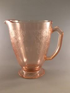 Florentine No 1 pink depression glass pitcher