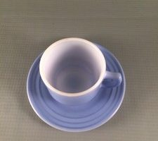 Hazel Atlas Little Hostess Blue Cup and Saucer