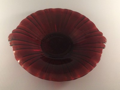 Hocking Old Cafe Royal Ruby Candy Dish