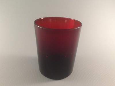 Royal Ruby Old Fashioned Flat Tumbler