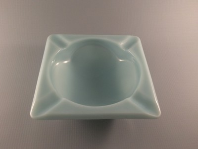 Fire-King Turquoise Blue Ashtray