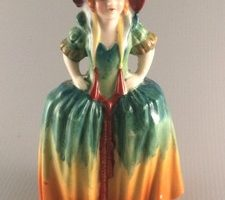 Japanese figurine of southern lady front view