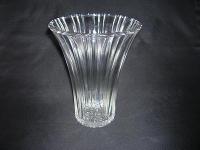 Depression Glass Vase in Old Cafe