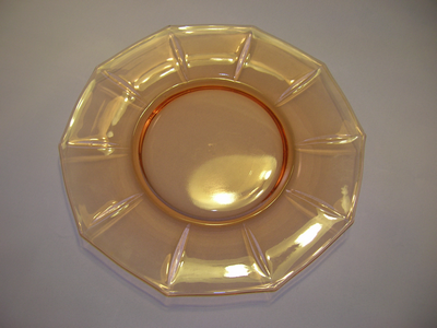 Glass salad plate by Cambridge