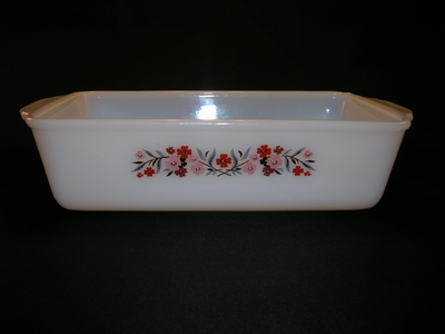 Fire-King Milk Glass Loaf Pan