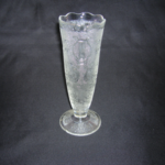 Jeannette Glass Harp Pattern Vase