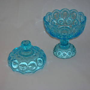 Moon and Star compote with lid
