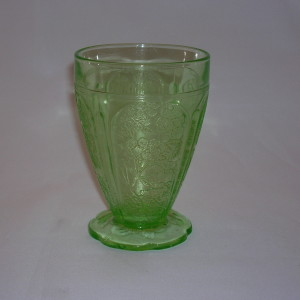 Cherry Blossom Depression Glass tumbler