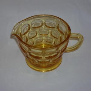 Yorktown creamer by Federal glass