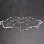 Candlewick Crimped Two Handled Plate