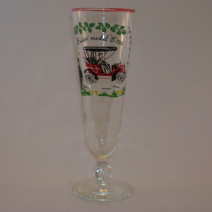 Libbey Pilsner Horseless Carraige Beer Glasses