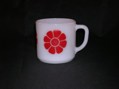 Federal Glass Milk Glass Mug