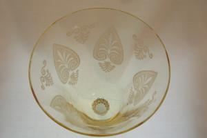 Fostoria Etched Water Goblet-Trojan Pattern
