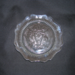 Iris and Herringbone crystal sherbet plate