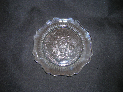 Iris and Herringbone glass plate