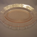 Pink depression glass platter-American Sweetheart