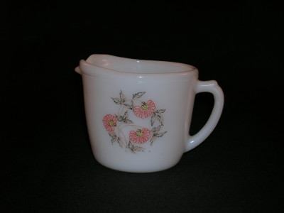 Fire-King Fleurette Pattern Creamer