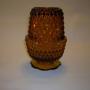 Indiana Diamond Point Fairy Lamp in amber