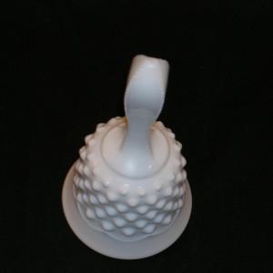 Fenton Hobnail Milk Glass Bell