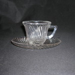 Diana depression glass cup and saucer