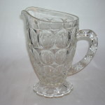 Jeannette Glass Thumbprint Pitcher