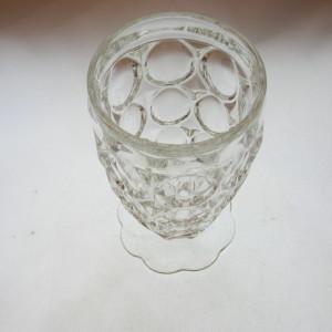 Jeannette Glass Thumbprint juice tumbler