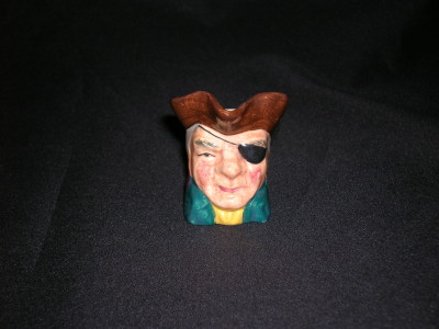 Sterling Character Jug-Captain Patch