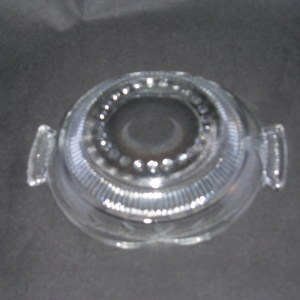Paden City glass crimped bowl