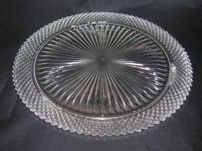 Miss America Cake Plate-Crystal