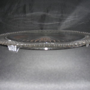 Miss America cake plate by Hocking Glass