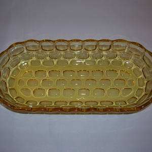 Federal Glass celery tray-Yorktown