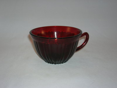 Hocking Old Cafe Pattern Ruby Cup