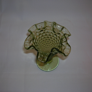 Fenton Hobnail vase, top view