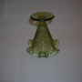 Fenton Hobnail vase in Colonial Green, bottom view