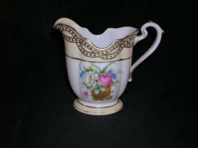 Antique Noritake China Creamer Old Time Glass