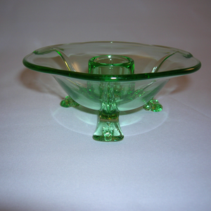 Fostoria #2394 candle holder in green
