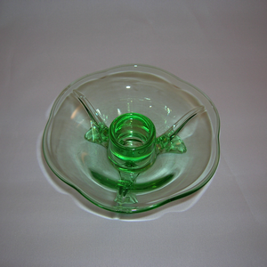 Fostoria #2394 candle holder, top view