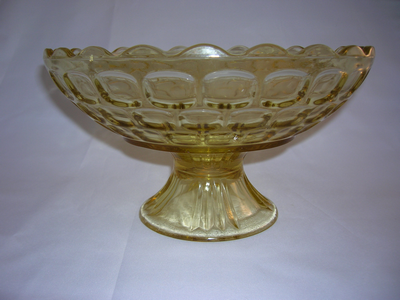 Federal Glass Yellow Footed Bowl