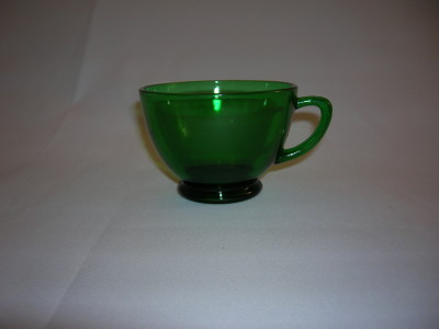 Anchor Hocking Forest Green Cup
