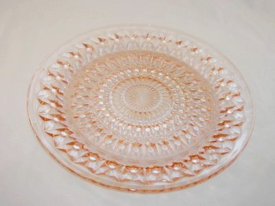 Holiday Depression Glass Plate Jeannette Glass