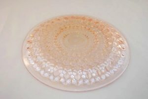 Holiday depression glass plate